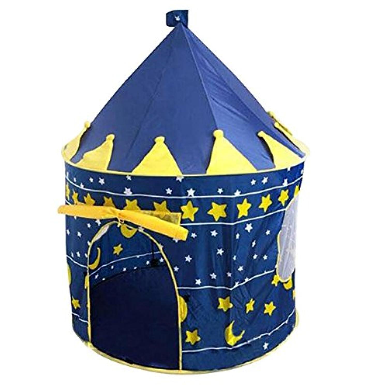 Gzqプリンセスお城テントポータブルPlay House Palaceテントおもちゃfor Kidsインドア&アウトドア – 防水 – 折りたたみ式&軽量極 – & Carryバッグ