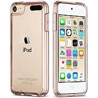 【ULAK】iPod touch ケース Apple ipod touch 6/ipod touch 5 カバー シリコン ソフト バンパー クリア ハード TPU/PCカバー 衝撃吸収 スリム 軽量 傷防止iPod touch 6世代 高品質 透明ケース (ローズゴールド)