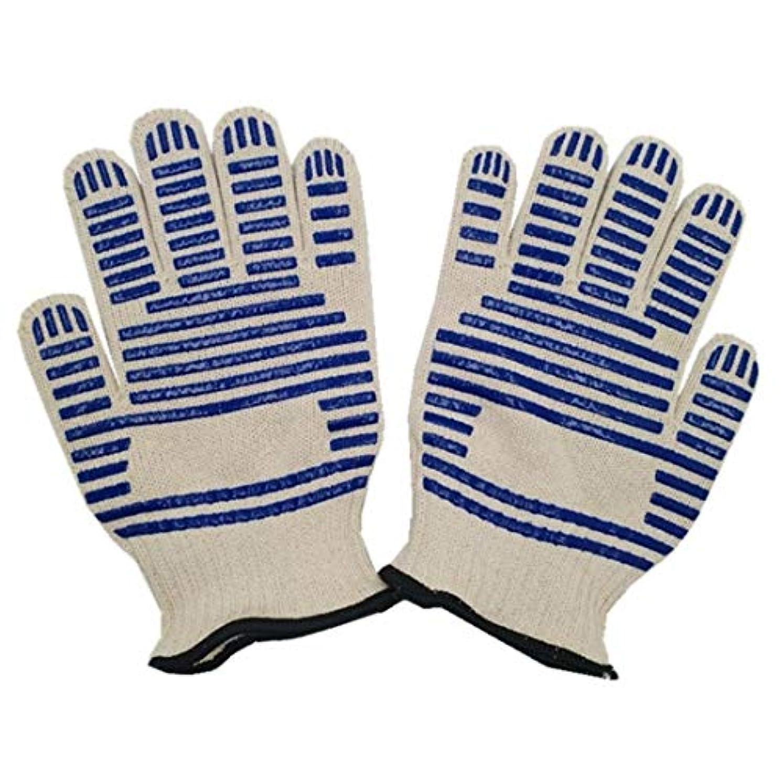 しつけ論争的埋め込むJiaoran 高温耐熱手袋、屋外キャンプ用手袋、ポリエステル/綿手袋