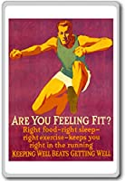 Are You Feeling Fit? Right Food, Right Sleep... - Motivational Quotes Fridge Magnet - ?????????