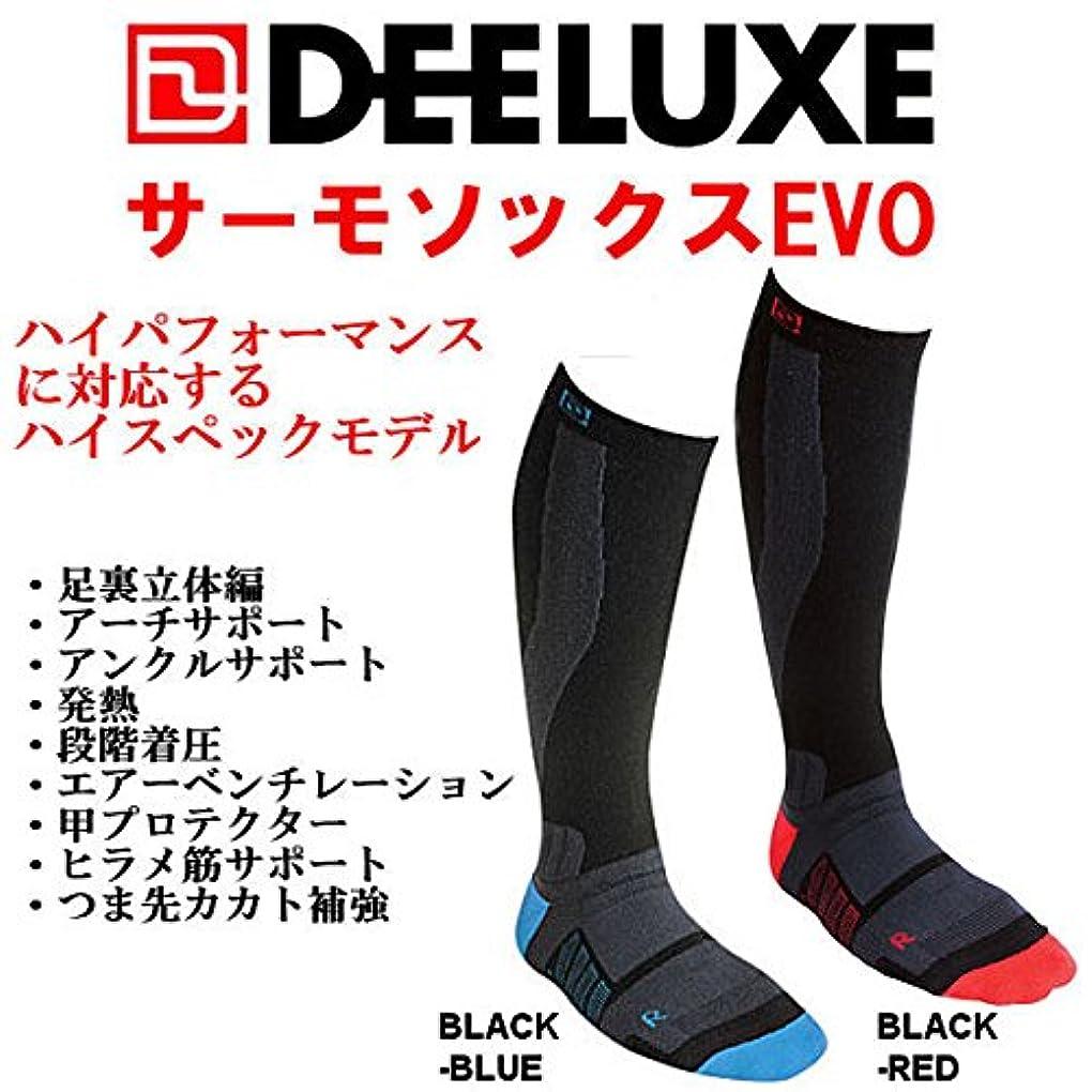 付属品嫌がらせ合法DEELUXE【ディーラックス】THERMO SOCKS EVO(BLK_RED L_26-28cm)