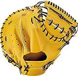 ZETT(ゼット) 硬式野球 プロステイタス キャッチャーミット トゥルーイエロー×ブラック(5419) 右投げ用 日本製 BPROCM120