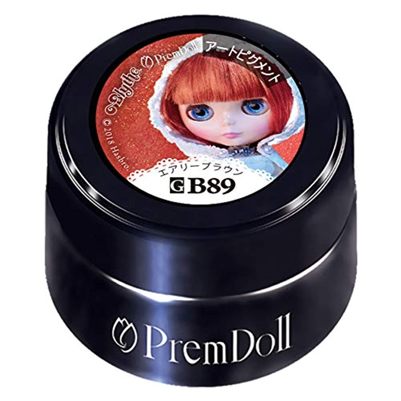 性別ソファー角度PRE GEL プリムドール エアリーブラウン89 DOLL-B89 3g カラージェル UV/LED対応