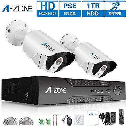 A-ZONE 200万画素タイプ POE給電カメラ 防犯カメ...