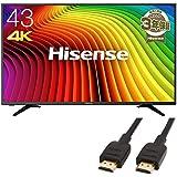 ハイセンス 43V型 4K対応液晶テレビ -外付けHDD録画対応(裏番組録画)/メーカー3年保証- 43A6100(HDMIケーブル(1.8m) 付)