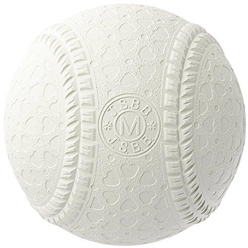 内外ゴム(NAIGAI) 軟式 野球 ボール M号 (一般・中学生用) 公認球 1p M