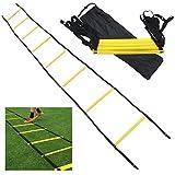 JX-SHOPPU トレーニングラダー 5m プレート9枚 敏捷性 アップ サッカー フットサル イエロー (5m 9枚)