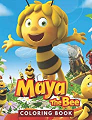 Maya The Bee Coloring Book: JUMBO Coloring Book For Kids | Ages 2-13+ Maya The Bee Colouring Book Gift For Chi