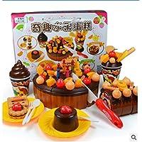 【Le futur】知育玩具?おままごと?Happy Birthday?フルーツケーキ?チョコレート?ストロベリー (チョコレートケーキ)