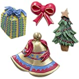 (Noel) - Christmas Shower Curtain Hooks - Set of 12 (Noel)