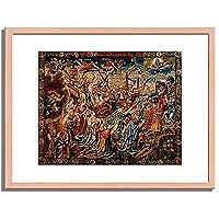 Tapisserie,Brussel um 1530「Allegorie der Hoffnung.」インテリア アート 絵画 プリント 額装作品 フレーム:木製(白木) サイズ:M (306mm X 397mm)