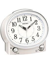 セイコー クロック 目覚まし時計 アナログ 切替式 アラーム 白 パール KR892W SEIKO