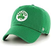 47 Brand Boston Celtics Clean Up NBA Dad Hat Cap Green/White
