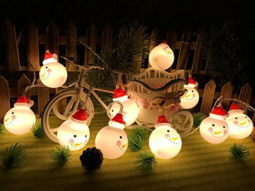 SILIVN クリスマスツリー 飾り スノーマン LED ラ...