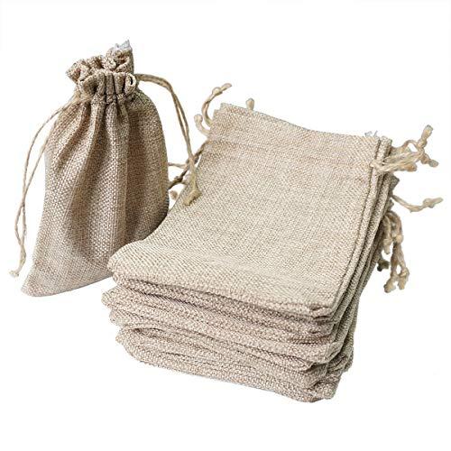 麻袋 20枚セット リネン 巾着袋 小 口紐付 サイズ13cm×18cm プレゼント用 ラッピング袋 ギフト バッグ 収納...