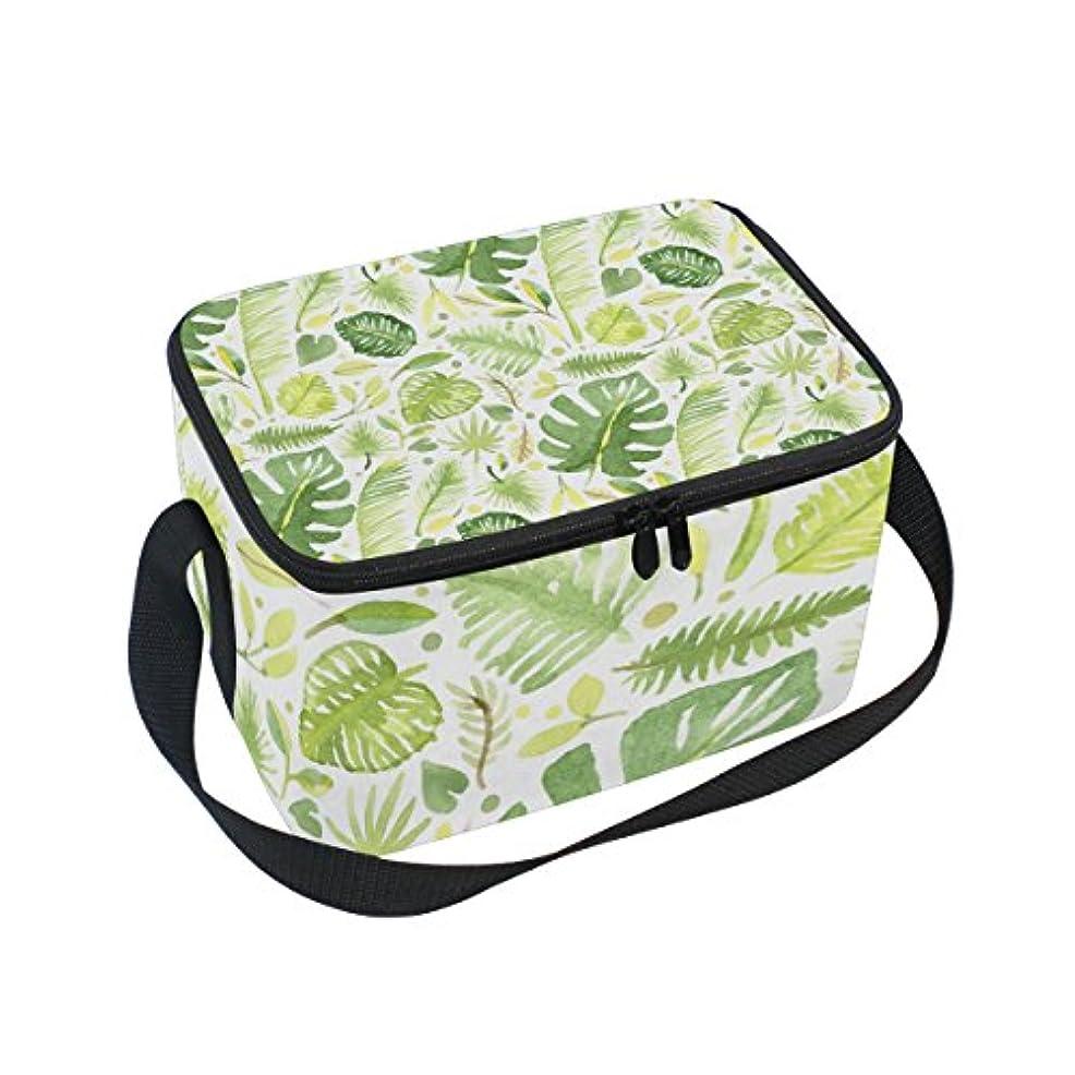求めるフラフープ強大なクーラーバッグ クーラーボックス ソフトクーラ 冷蔵ボックス キャンプ用品 水彩画 葉柄 保冷保温 大容量 肩掛け お花見 アウトドア