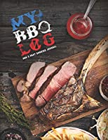 """My BBQ Log, BBQ & Meat Smoking Journal: Logbook • Recipe Book To Write In • Take Notes - Refine The Process - Improve Your Results • 8.5"""" x 11"""" • 110 Pages For 50 Recipes (Design Edition)"""