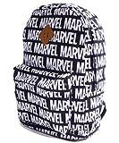 MARVEL マーベルコミックス ロゴ ナイロン リュックサック バックパック デイパック バッグ BAG (BLACK(ブラック))