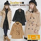 802431101201 (ハッピーマリリン) A HAPPY MARILYN レディース トレンチコート COAT アウター 大きなサイズ LL キャメル