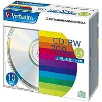 三菱ケミカルメディア Verbatim  くり返し記録用 CD-RW SW80QU10V1 (1-4倍速/10枚)