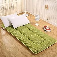 布団 マットレス 床マット, 柔らか\ソフト 日本語 折りたたみ可能 畳 折りたたみ 床 厚い 通気性 パッドを睡眠 クイーン-緑 150x200cm