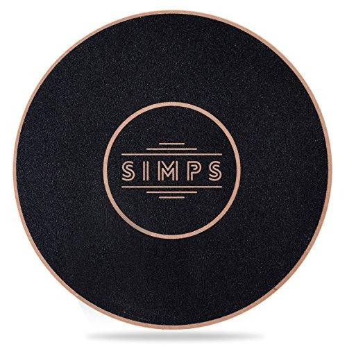 SIMPS バランスボード 頑丈 体幹トレーニング 初心者から バランスディスク 体幹 エクササイズ 木製 直径40cm