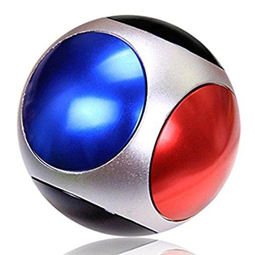 球形 三面回転可能 4様式 指先ジャイロ 指スピナー ハンドスピナー 指先ジャイロ(Hand Spinner Fidget Spinner) ADD、ADHD、自閉症、集中力を向上し、ストレスを解消する場合などに最適 ハンドスピナー 独楽おもちゃ 1-3分 成人用 /子供用 様式(A-B-C-D) (三面回転可能の球形のハンドスピナー  , B)