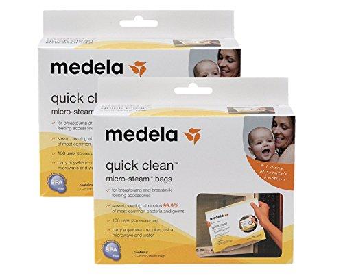 メデラ(medela)電子レンジ除菌バッグ(5枚入)クイッククリーンスチームバッグ 2個セット
