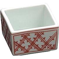 山下工芸(Yamasita craft) 赤格子角鉢珍味入 小 45010850
