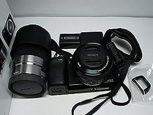 ソニー SONY ミラーレス一眼 α NEX-6 ダブルズームレンズキット E PZ 16-50mm F3.5-5.6 OSS + E 55-210mm F4.5-6.3 OSS付属 NEX-6Y/B