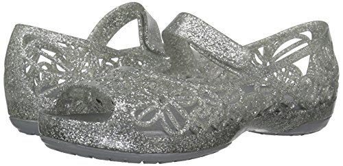 クロックス サンダル イザベラ グリッター フラット PS キッズ 202602 Silver C13 19 cm