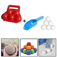 冬のおもちゃ5つの雪だるまのメーカーと雪のシャベル、凍傷の砂のボールメーカーから子供の手を守るための最高の雪ファイティングツール