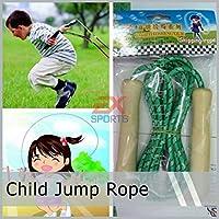 レッド:1個キッズスキッピングロープジャンプスポーツフィットネスおもちゃの運動には、専用の子供キッドスピードES1015屋外ハンドル
