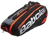 Babolat(バボラ) テニス バドミントン ラケットバッグ ピュアライン 6本収納可 BB751135 ブラック×フルオレッド(390)