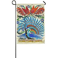 DFGTLY Fashion Personalized Garden Flag,Beautiful Peacock Garden Flag-12