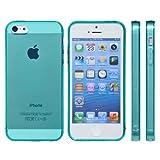 mtmd decolor tpuハードシリコン iphone SE/5/5sケース つるつるタイプ/エメラルドグリーン
