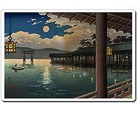 浮世絵マウスパッド 薄ぴた U14002 土屋光逸 - 夏の月 宮島