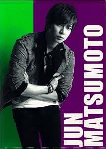 嵐 ARASHI 公式グッズ ARASHI LIVE TOUR Popcorn クリアファイル【松本潤】&公式生写真Popcornオフショット【松本潤】セット
