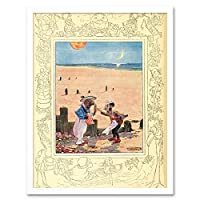 Painting Alice Wonderland Walrus Art Print Framed Poster Wall Decor 12X16 Inch ペインティングポスター壁デコ