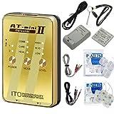 低周波治療器 AT-mini personal II ゴールド (ATミニパーソナル2) +アクセルガードLサイズ(5x9cm:1袋4枚入)セット