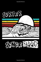 Surfer Since 2001 Journal Surf Gift: Diary, Lined Notebook / Journal Birthday Surf Gift, 120 Pages, 6x9, Soft Cover, Matte Finish