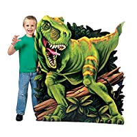 Fun Express - 恐竜-マイト T-Rex スタンドアップ 誕生日 - パーティー装飾 - 大きな装飾 - フロアスタンド - 誕生日 - 1個
