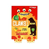 爪は、ニンジン、5×18グラムマンゴー (Bear) (x 4) - Bear Claws Mango Carrot 5 x 18g (Pack of 4)
