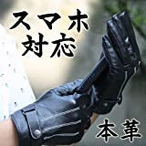 【送料無料】本革 iphone5にも スマートフォン 手袋 革 メンズ スマホ手袋 レザー 男性用 ラム革 apa-s019