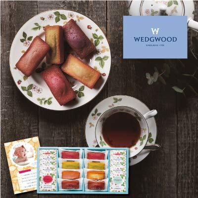 出産 結婚の内祝い(お祝い返し) に 人気のお菓子ギフト フィナンシェ & ウェッジウッド ティーバッグ セット 18個 (AD)軽