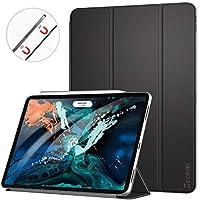 Ztotop iPad Pro 12.9インチ 2018用ケース - ミニマリストスリムスマートケース 三つ折りスタンド 自動スリープ/スリープ解除 Apple iPad Pro 12.9インチ用 ブラック IPAD 12.9 YZ-001