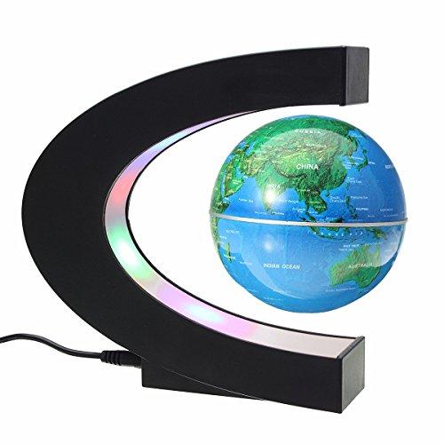 MECO 磁気浮上 地球儀 浮遊・回転型の地球儀 3 inc...