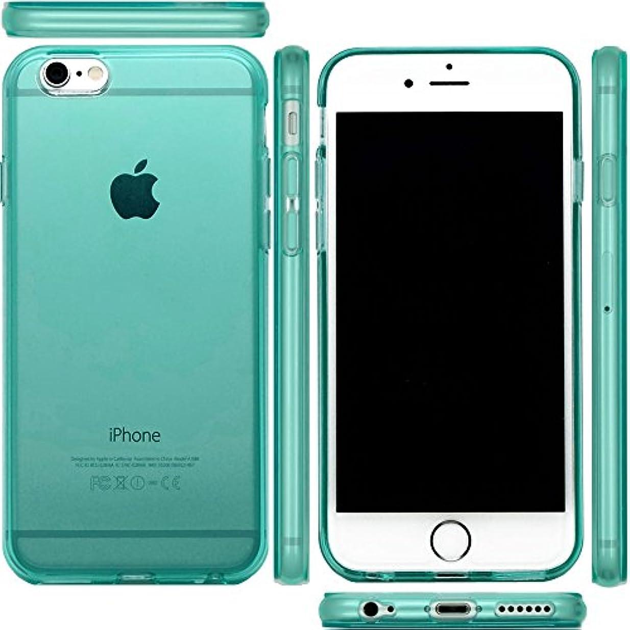 普及ジャーナリストアーサーmtmd.jp iphone 6s & iPhone 6 対応 衝撃吸収 ハード シリコン ケース カバー 6 s (つるつるタイプミント)