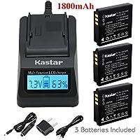 Kastar高速充電器+バッテリ3x for Panasonic Lumix DMC - cga-s005cga-s005a/1b cga-s005e cga-s005gk dmw-bcc12& Lumix DMC - dmc-fs1dmc-fs2dmc-fx01dmc-fx07dmc-fx1dmc-fx3dmc-fx180Lumix lx3