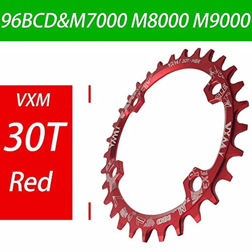 泥沼アンプパイルPropenary - Bicycle 96BCD Crank 30T Chainwheel Aluminum Alloy Round Chain ring Chainwheel Road Bicycle Chain ring for M7000 M8000 M9000 [ Red ]